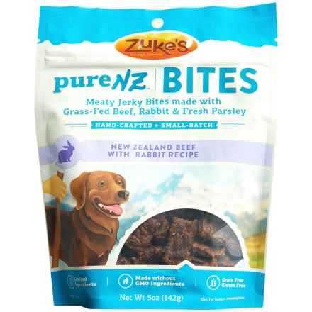 Zuke's PureNZ Bites Beef with Rabbit Jerky Dog Treats - 5 oz. in See Photo - Closeouts